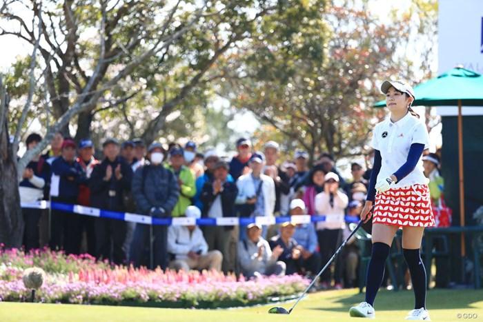 最終日スタートいよいよだね 2018年 アクサレディスゴルフトーナメント in MIYAZAKI 最終日 三浦桃香