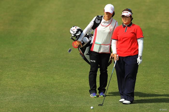 粘りのゴルフで5位タイフィニッシュ。 2018年 ヤマハレディースオープン葛城 最終日 酒井美紀