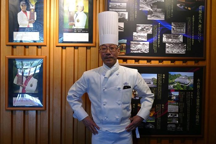 総料理長の入江さん。選手たちを陰でサポートした 2018年 ヤマハレディースオープン葛城 2日目 入江真史さん