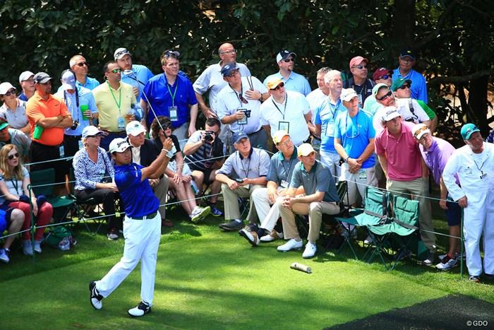 選手とのこの距離感はゴルフだけ 2018年 マスターズ 事前 松山英樹
