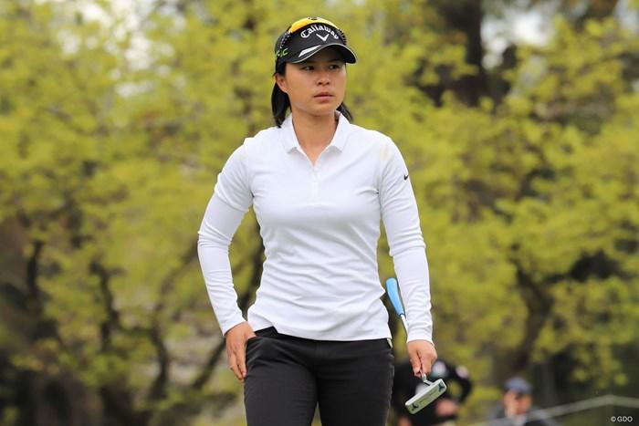 7アンダーで首位スタートを決めた永田あおい(日本女子プロゴルフ協会提供) 2018年 パナソニックオープンレディース 初日 永田あおい