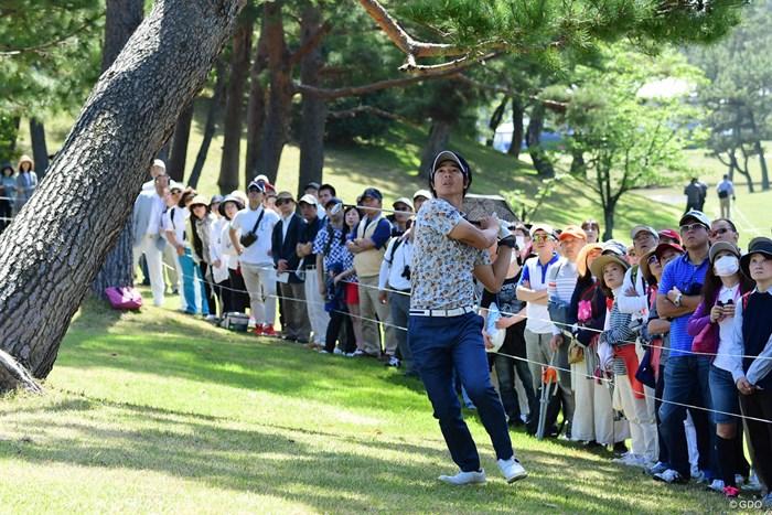 今日はショットの精度を欠き、ジッと我慢のイーブンパー。 2018年 パナソニックオープンゴルフチャンピオンシップ 初日 石川遼