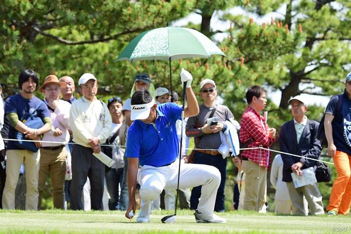 さすがに腰痛での連日アンダーは厳しく、1つスコアを落として15位タイ。 2018年 パナソニックオープンゴルフチャンピオンシップ 2日目 久保谷健一