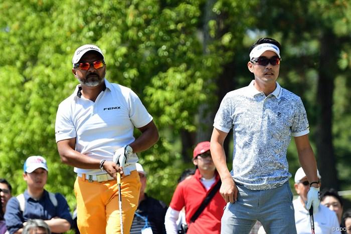 中盤以降は2人のマッチレースになりましたが、最終ホールのバーディでヒョンソンに軍配。 2018年 パナソニックオープンゴルフチャンピオンシップ 3日目 ラヒル・ガンジー&キム・ヒョンソン