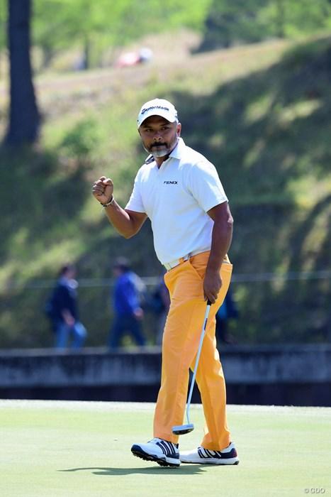 39歳のラヒル・ガンジー。日本ツアー参戦にも意欲的だ 2018年 パナソニックオープンゴルフチャンピオンシップ 3日目 ラヒル・ガンジー
