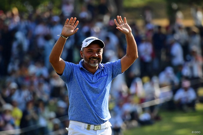 14年ぶりのツアー勝利を日本で飾ったラヒル・ガンジー 2018年 パナソニックオープンゴルフチャンピオンシップ 最終日 ラヒル・ガンジー