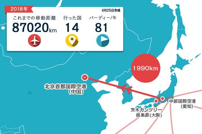 直行便で北京へ。しばらくアジアにいまーす 2018年 ボルボ中国オープン 事前 川村昌弘マップ