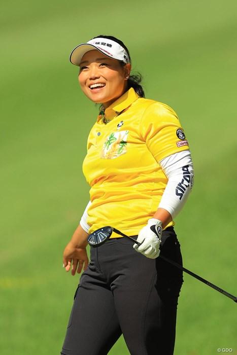 いつも笑顔でラウンドしてます。 2018年 サイバーエージェント レディスゴルフトーナメント 2日目 天良枝里子