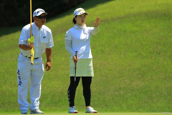 もう少しパッティングが決まっていれば、チャンスはあったと思うんですけどねぇ。 2018年 ヨネックスレディスゴルフトーナメント 最終日 石川明日香