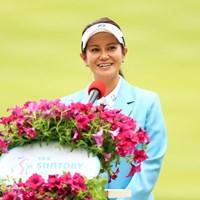 大会アンバサダーとしての一週間を終えた宮里藍 2018年 サントリーレディスオープンゴルフトーナメント 最終日 宮里藍