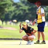 谷口徹プロが激励に来てたみたいです 2018年 センチュリー21レディスゴルフトーナメント 初日 上田桃子