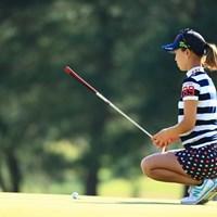 ライン読み、今までと違うような 2018年 センチュリー21レディスゴルフトーナメント 2日目 上田桃子