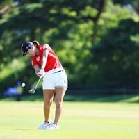スタートホールから果敢に攻めます 2018年 センチュリー21レディスゴルフトーナメント 最終日 上田桃子