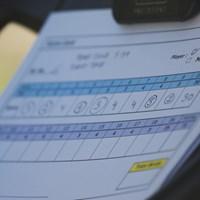 スコアラーさんもありがとう スコアカード/24時間ゴルフ
