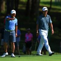 宮里優作と松山英樹は開幕前日の練習ラウンドをともにした 2018年 全米プロゴルフ選手権 事前 宮里優作 松山英樹