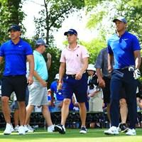 開幕前日に練習ラウンドを行ったケプカ、トーマス、そしてウッズ 2018年 全米プロゴルフ選手権 事前 ブルックス・ケプカ ジャスティン・トーマス タイガー・ウッズ