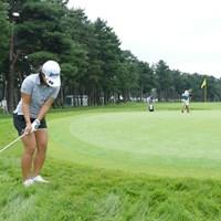 グリーン周りのラフはこの深さ 2018年 日本女子オープンゴルフ選手権競技 事前 ラフ