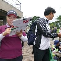 今朝になって首痛が出たというアン・ソンジュ。直近5試合で3位を外していないだけに、プレーさえできれば… 2018年 日本女子オープンゴルフ選手権競技 事前 アン・ソンジュ