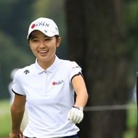 プロの試合でも好プレーを続けている安田祐香 2018年 日本女子オープンゴルフ選手権競技 事前 安田祐香