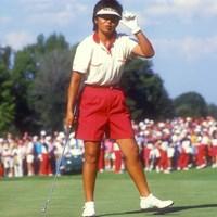 1987年の全米女子オープンでの岡本綾子 (Focus on Sport/Getty Images) 1987年 全米女子オープン 岡本綾子