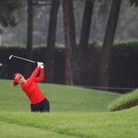 朝一からつかまっちゃた 2018年 日本女子オープンゴルフ選手権競技 2日目 キム・ハヌル