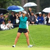 久々にみたよガッツポーズ 2018年 日本女子オープンゴルフ選手権競技 3日目 渡邉彩香