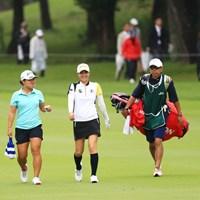 新垣比菜 2018年 日本女子オープンゴルフ選手権競技 最終日 畑岡奈紗