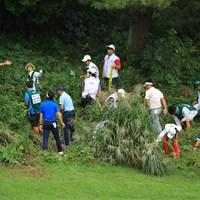 荒地の多いコースに生まれ変わり、ボール探しもほぼ不可能。 2018年 日本オープンゴルフ選手権競技 2日目 池田勇太