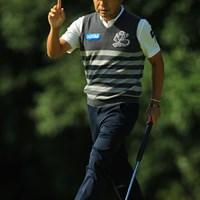 おはようバーディは気持ち良さそう。 2018年 ブリヂストンオープンゴルフトーナメント 初日 片山晋呉