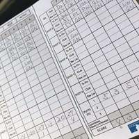 ターキッシュエアラインズオープン2日目の谷原秀人のスタッツ入力用のカード 2018年 ターキッシュエアラインズオープン 2日目 谷原秀人のスタッツ用カード