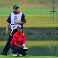 ジョンとのコンビ、いいね。 2018年 伊藤園レディスゴルフトーナメント 初日 鈴木愛