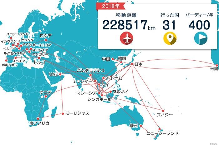 1年で約23万kmの旅。31カ国に立ち寄りました 川村昌弘マップ