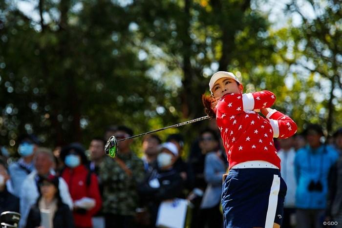 初優勝した河本結。ドライバーはエピックフラッシュサブゼロを使った 2019年 アクサレディスゴルフトーナメント in MIYAZAKI 最終日 河本結