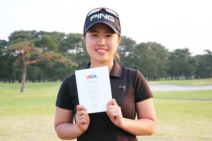 2オーバー3位タイで「全米女子オープン」出場を決めたアマチュアの上野菜々子 2019年 全米女子オープン 予選会 上野菜々子