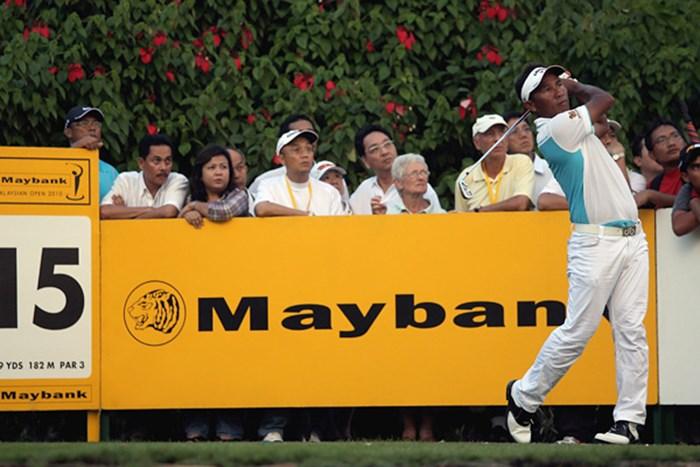 第2ラウンドを終え、首位と3打差につけるトンチャイ・ジェイディ(Andrew Redington/Getty Images) トンチャイ・ジェイディ/メイバンク・マレーシアオープン