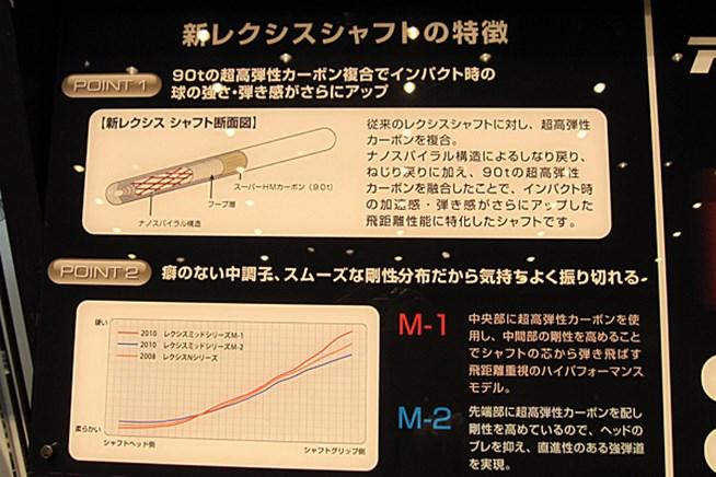 「新レクシスシャフト」の特徴は、高弾性カ
