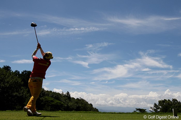 もう梅雨明けでしょうか?とても暑い1日でした。 2010年 スタンレーレディスゴルフトーナメント 2日目 廣瀬友美