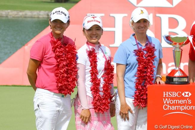 2011年 HSBC女子チャンピオンズ 最終日 有村智恵、ヤニ・ツェン、有村智恵、カリー・ウェブ