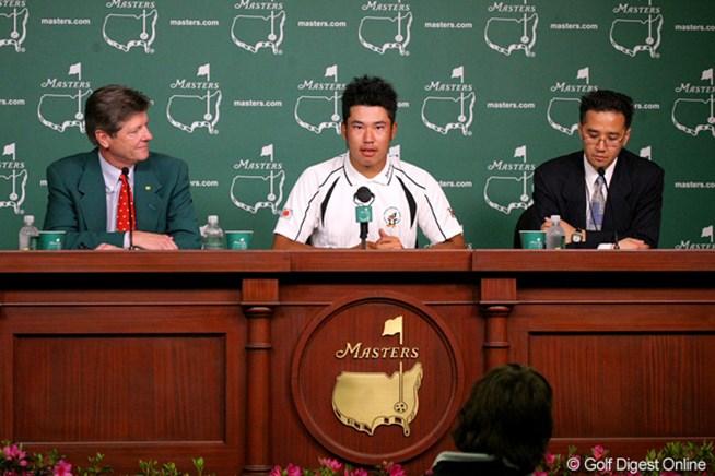 マスターズの公式会見に出席した松山英樹は