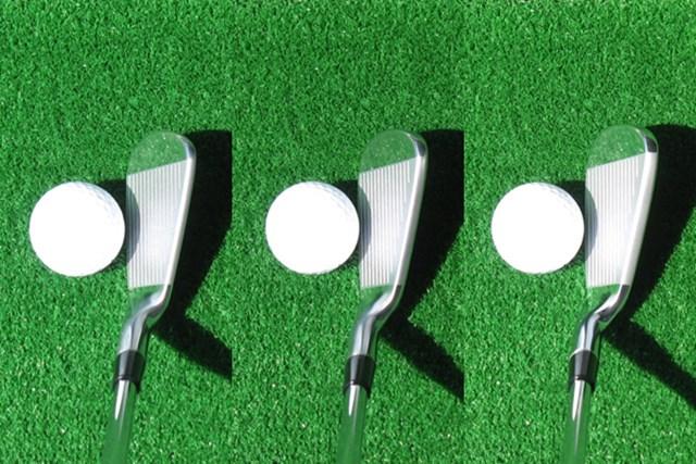 左からMB、MC、CB。右にいくにつれ、フェース長さとトップブレードの厚さが違うのがわかる