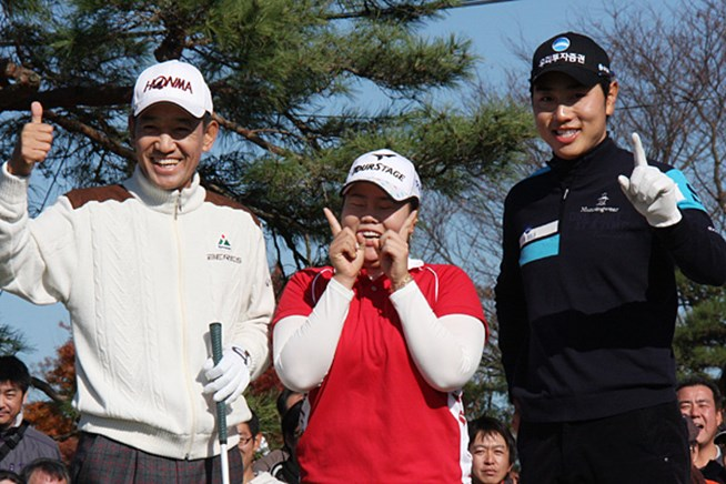 日本の3ツアーを制した韓国の金鐘徳 アン