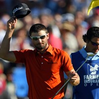 2位に5打差をつけ、ツアー初勝利に王手をかけたK.スタンリー(Donald Miralle/Getty Images) 2012年 ファーマーズ・インシュランスオープン3日目 カイル・スタンリー