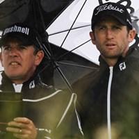 フランスのG.ボーディが首位の座を守って予選ラウンドを終了。(Dean Mouhtaropoulos/Getty Images) 2012年 アイルランドオープン 2日目 グレゴリー・ボーディ