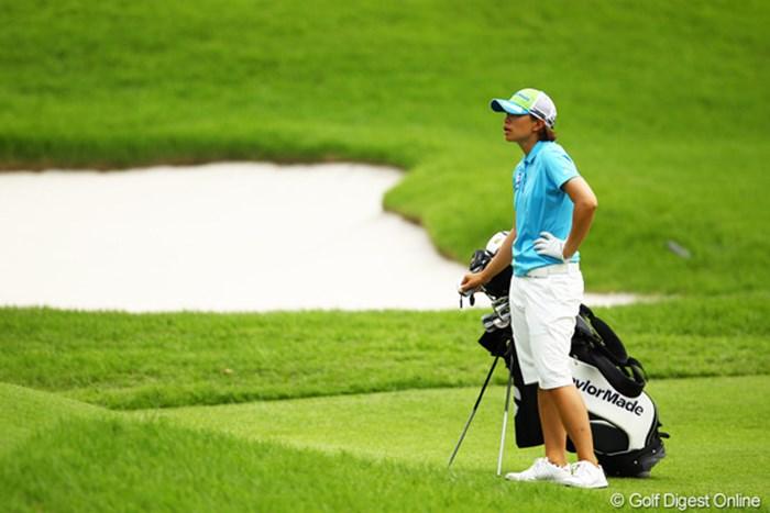 昨日のゴルフはどこへやら・・・。オーバーパーのラウンドで7位タイフィニッシュです。 2012年 CAT Ladies 最終日 オナリン・サタヤバンポット