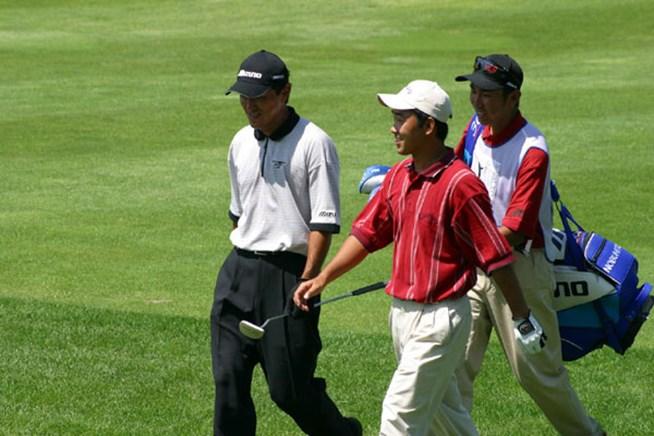 2002年 日本ゴルフツアー選手権イーヤマカップ 初日 佐藤信人 久保谷健一
