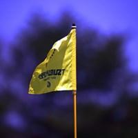 午後になり少し風が出てきた 2014年 つるやオープンゴルフトーナメント 2日目 ピンフラッグ